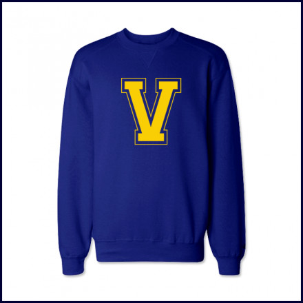 Crew Neck Sweatshirt with Large V Logo