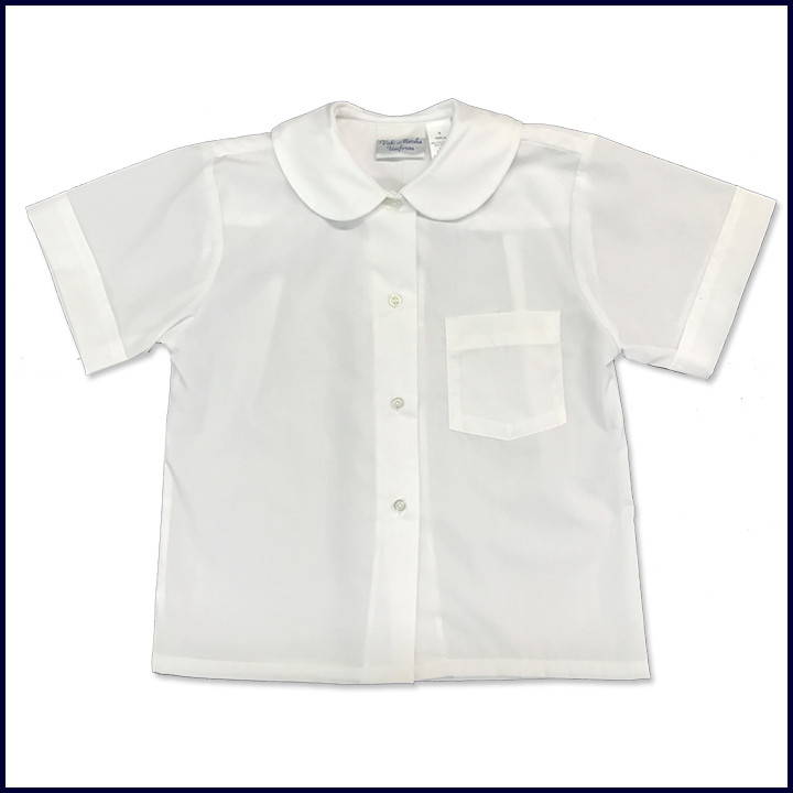 Round Collar Blouse: Short Sleeve