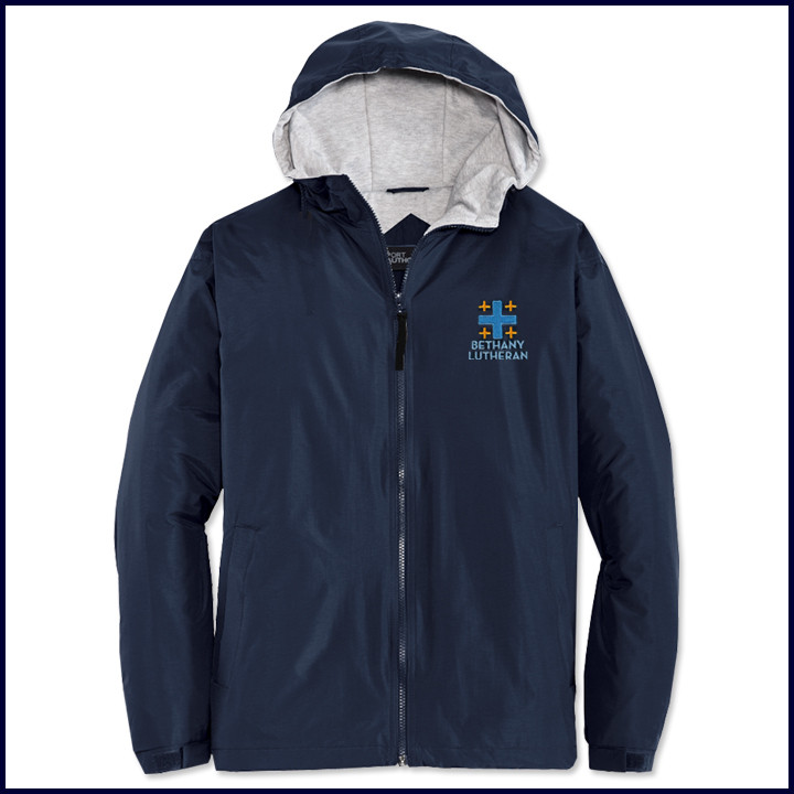 Hooded Jacket with Embroidered Logo