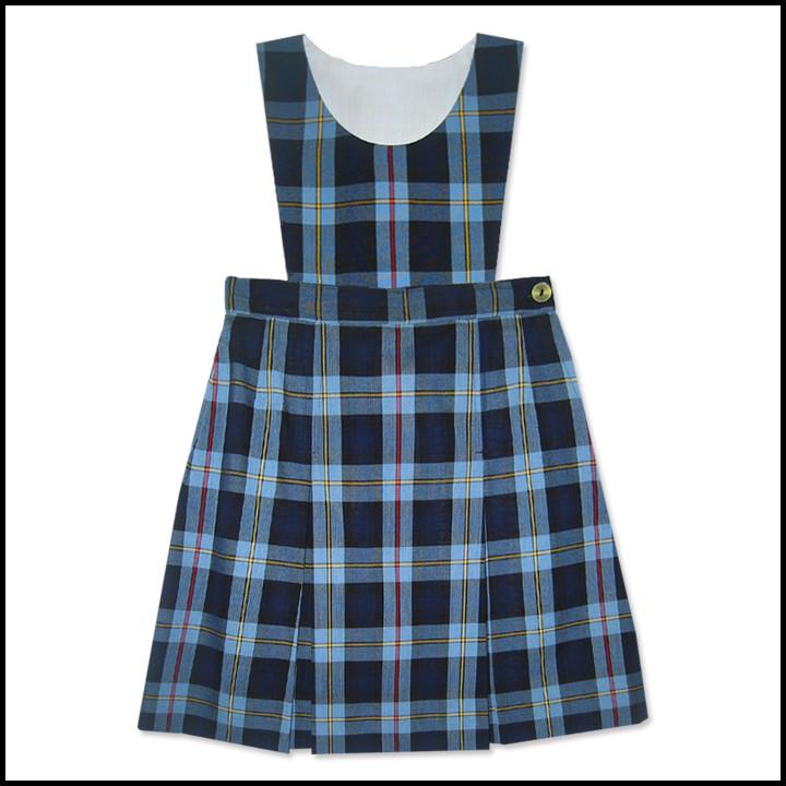 Bib Top Jumper with 2-Pleat Skirt: Longer Length