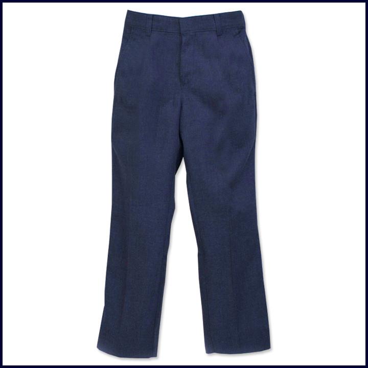 Boys Flat Front Flannel Pants
