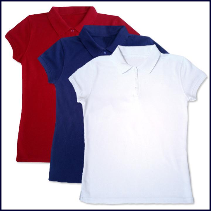 Girls Polo Shirt: Short Sleeve