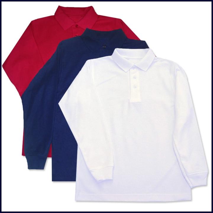 Classic Mesh Polo Shirt: Long Sleeve