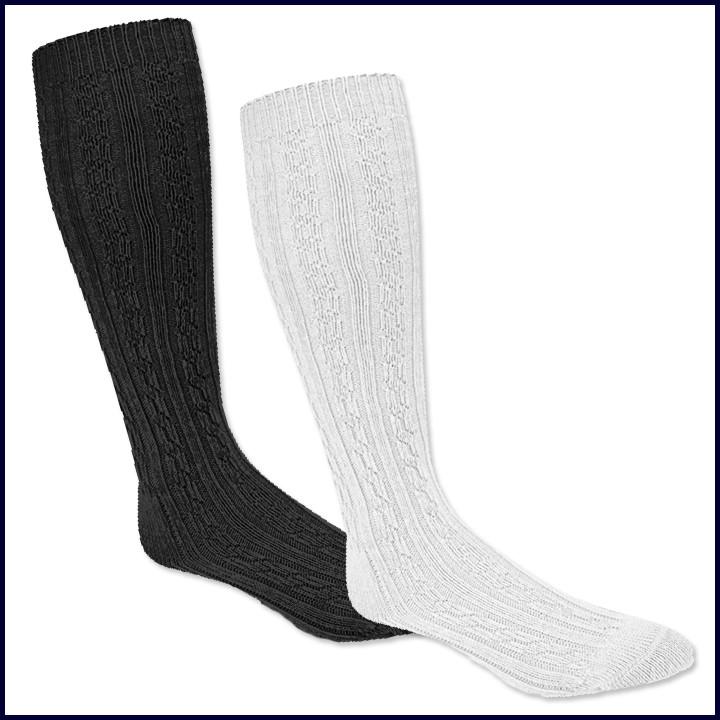 Cable Knee Hi Socks: Single