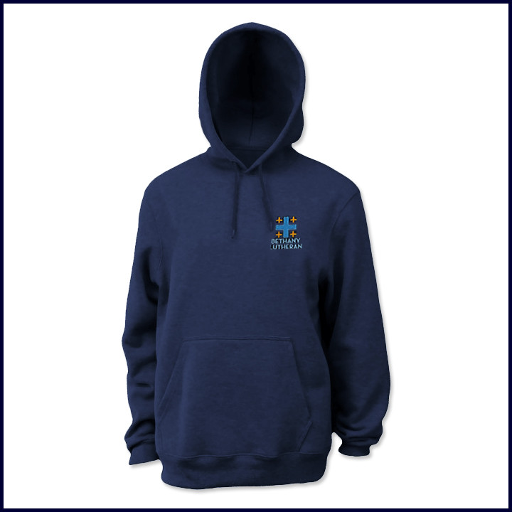 Hooded Pullover Sweatshirt with Embroidered Logo