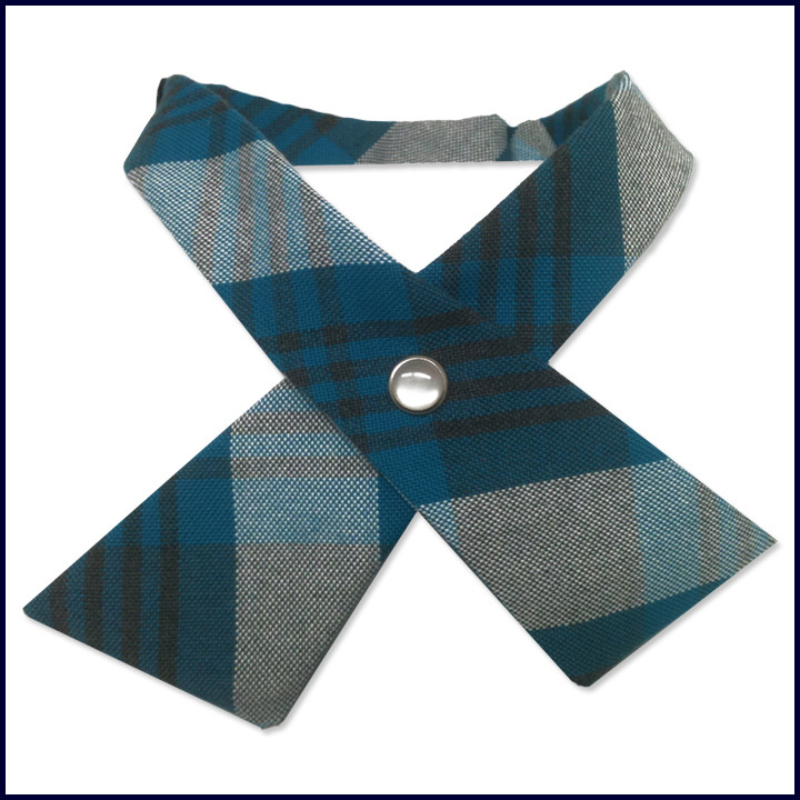 Plaid Continental Cross-Over Tie
