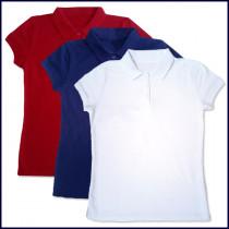 Girls Polo Shirt: Short Sleeve (No Logo)