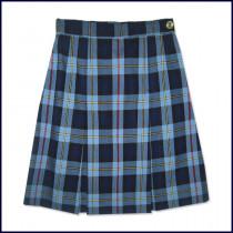Plaid 2-Pleat Skirt: Longer Length