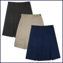 Solid 2-Pleat Skirt: Longer Length