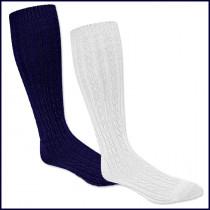 Cable Knee Hi Socks