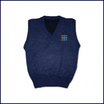 Sweater Vest with Embroidered Cross Logo