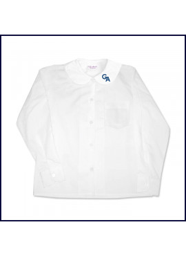 Round Collar Blouse: Long Sleeve with GA Logo on Collar