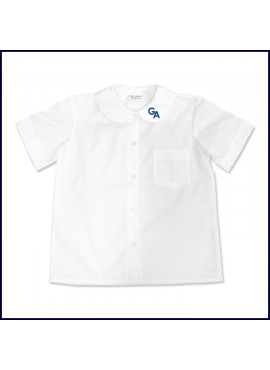 Round Collar Blouse: Short Sleeve with GA Logo on Collar
