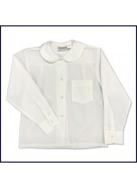 Round Collar Blouse: Long Sleeve