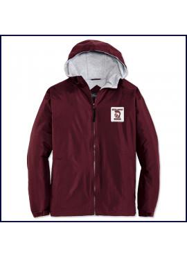 Hooded Jacket with School Emblem
