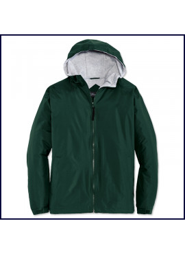 Hooded Jacket with School Emblem