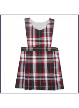 Bib Top Jumper with Flat Center Pleat Skirt