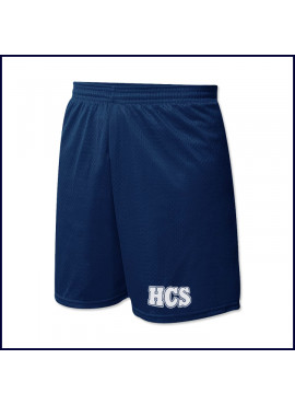Nylon Mesh Sports Team Shorts with HCS Logo
