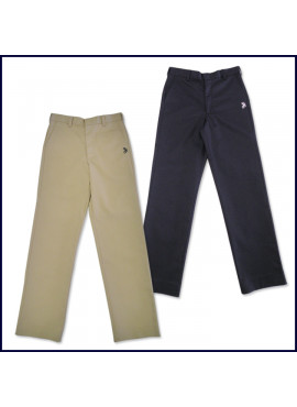Flat Front Pants with SJB Embroidered Logo
