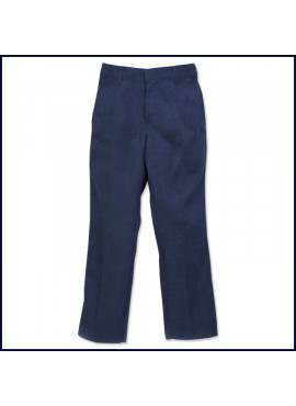 Boys Flat Front Flannel Pants
