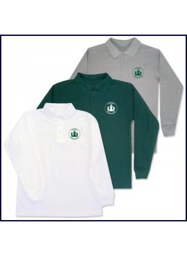 Classic Mesh Polo Shirt: Long Sleeve with Sacred Heart Logo