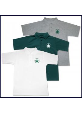 Classic Mesh Polo Shirt: Short Sleeve with Sacred Heart Logo