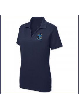 Ladies Staff Performance Polo Shirt: Short Sleeve with Embroidered Logo