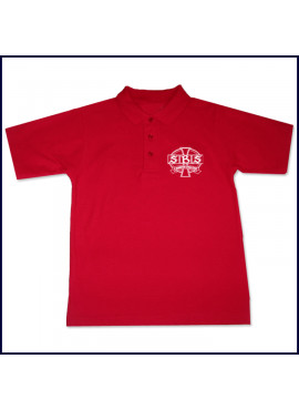 Classic Unisex Spirit Polo Shirt: SS with School Logo