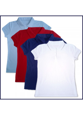 Girls Mesh Polo Shirt: Short Sleeve