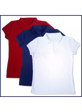 Girls Polo Shirt: Short Sleeve (No Logo)
