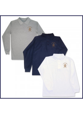 Classic Mesh Polo Shirt: Long Sleeve with Embroidered Logo