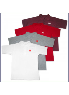 Classic Mesh Polo Shirt: Short Sleeve with MD Embroidered Logo