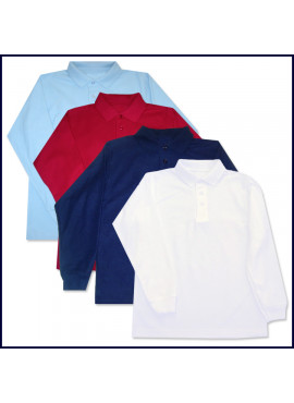 Classic Mesh Polo Shirt: Long Sleeve