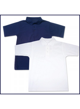 Classic Mesh Polo Shirt: Short Sleeve with School Logo