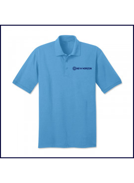 Classic Jersey Polo Shirt: Short Sleeve with Embroidered Logo