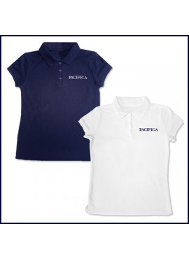 Girls Mesh Polo Shirt: Short Sleeve with PCHS Embroidered Logo