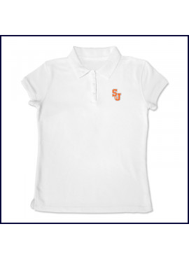 Girls Mesh Polo Shirt: Short Sleeve with SJ Embroidered Logo