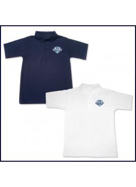 Classic Mesh Polo Shirt: Short Sleeve with School Logo