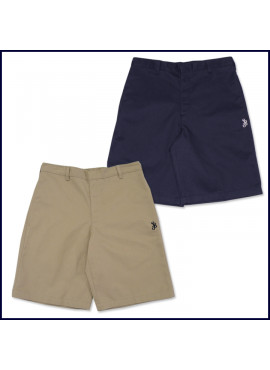 Flat Front Shorts with SJB Embroidered Logo