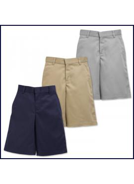 Boys Flat Front Shorts: Longer Length