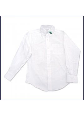 Oxford Shirt: Long Sleeve with GA Logo on Collar