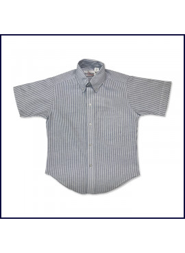 Striped Oxford Shirt: Short Sleeve