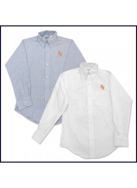 Oxford Shirt: Long Sleeve with SJ Embroidered Logo