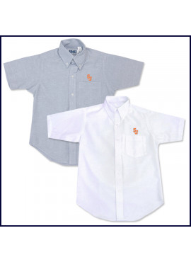 Oxford Shirt: Short Sleeve with SJ Embroidered Logo