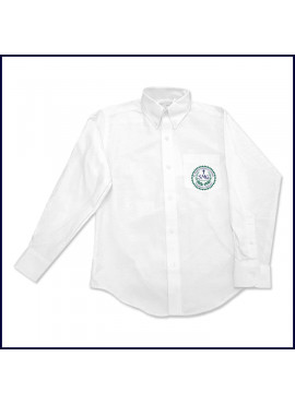 Oxford Shirt: Long Sleeve with School Logo on Pocket