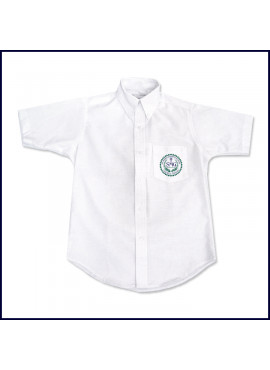 Oxford Shirt: Short Sleeve with School Logo on Pocket