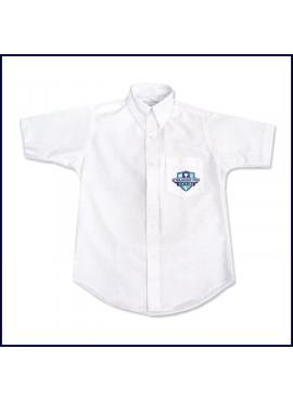 Oxford Shirt: Short Sleeve with School Logo on Pocket