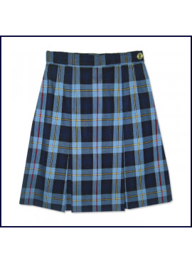 Plaid 2-Pleat Skirt: Longer Length