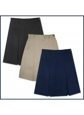 Solid 2-Pleat Skirt: Longer Length