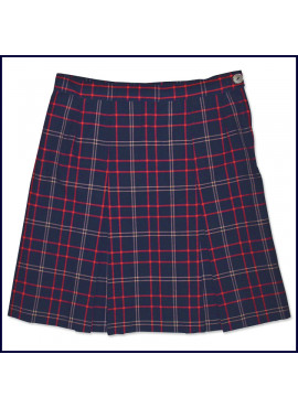 Royals Plaid 2-Pleat Skirt